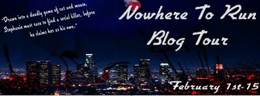 Nowhere to run blog tour banner